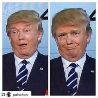 Las expresiones faciales de Donald Trump volvieron a dar de qué hablar Foto:Twitter.com