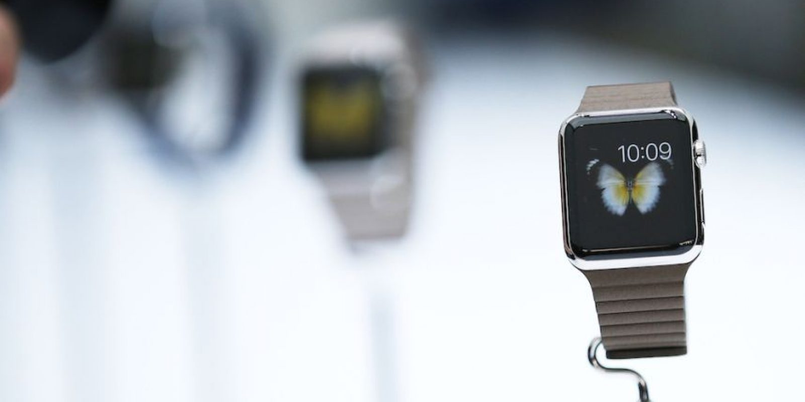 Modelos: Apple Watch, Apple Watch Sport y Apple Watch Edition con oro de 18 kilates. Foto: Getty Images