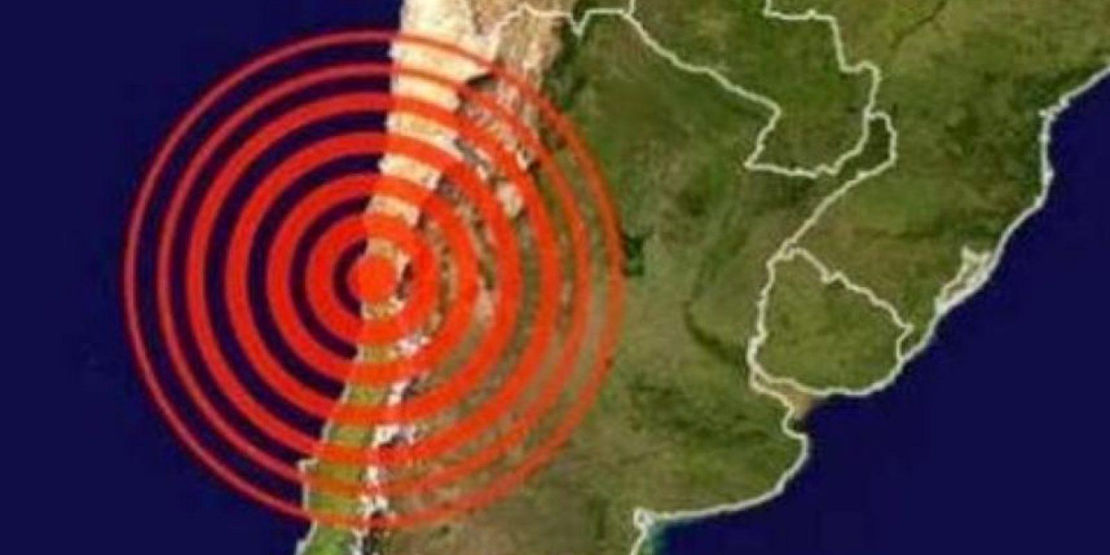 Un sismo de 8.4 grados en la escala de Richter sacudió a la zona central de Chile. Foto:vía Earthquake Hazards Program