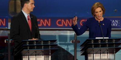 Fue organizado por la cadena CNN. Foto:Getty Images