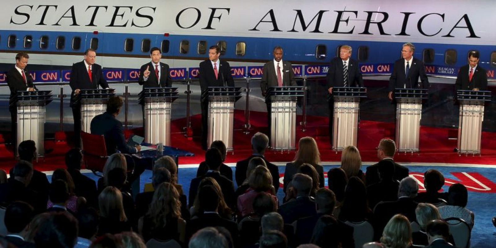En el debate previo al evento estelar se midieron: Rick Santorum, Bobby Jindal, George Pataki y Lindsey Graham. Foto:Getty Images