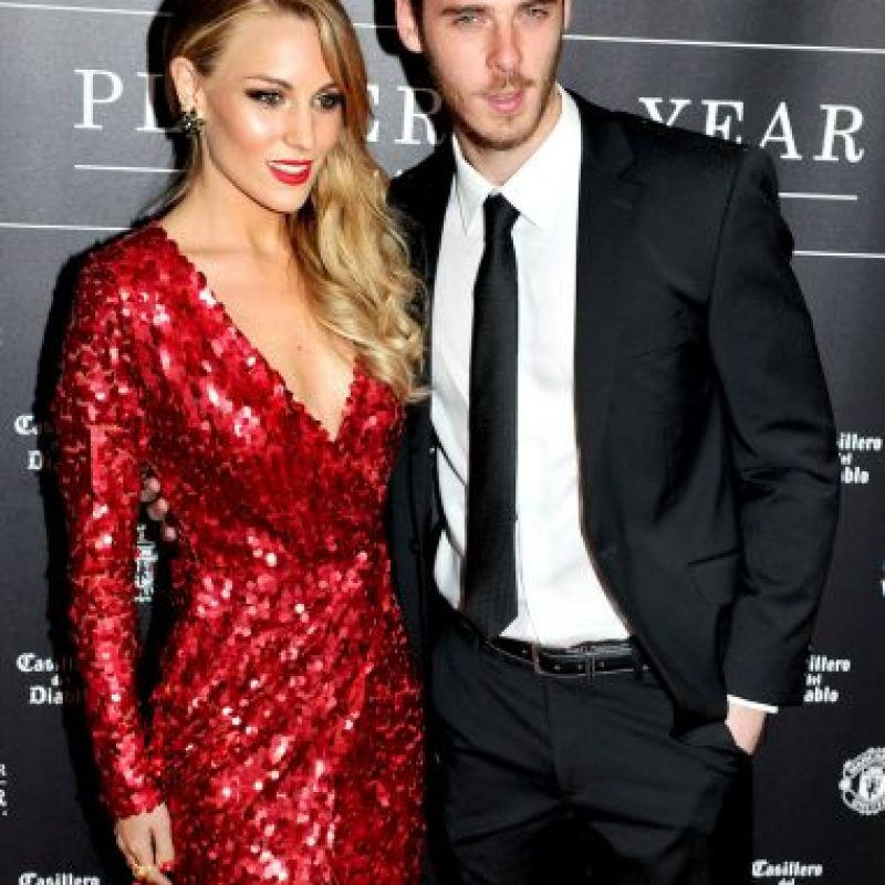 Ella ha apoyado al portero durante su aventura por el Manchester United y estuvo con él el día de su fichaje caído al Real Madrid. Foto:Getty Images