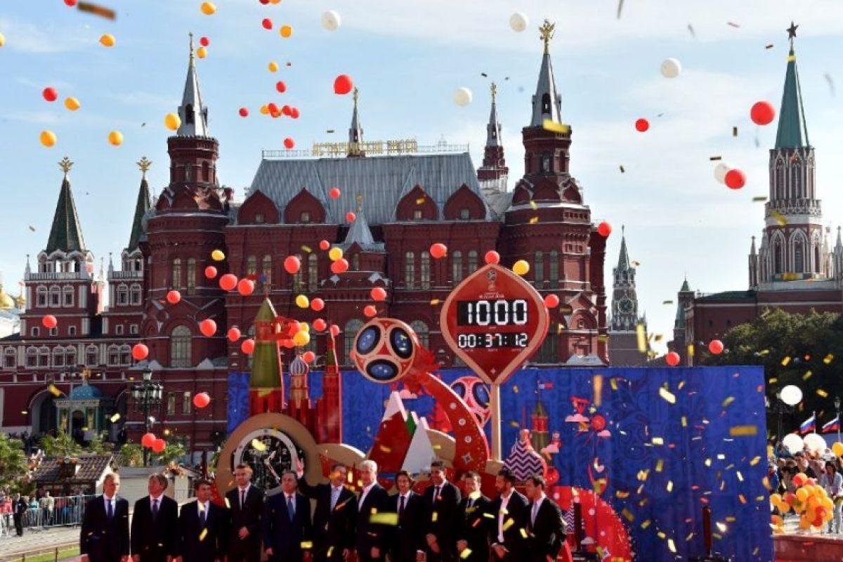 La Plaza Roja de Moscú se convirtió en el escenario de la celebración. Foto:AFP