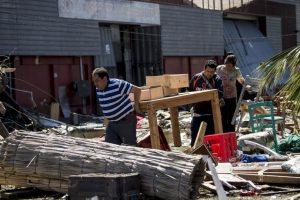 Y en Twitter, el hashtag #FuerzaChile se convirtió en uno de los más comentados Foto:AFP