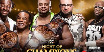 Campeonato de Parejas de la WWE: The New Day (Big E y Kofi Kingston) con Xavier Woods vs. The Dudley Boyz (Bubba Ray & D-Von Dudley). Foto: WWE
