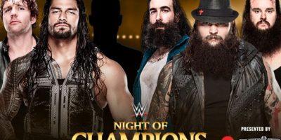 Roman Reigns, Dean Ambrose y acompañante por definir vs. The Wyatt Family (Bray Wyatt, Luke Harper &Braun Strowman). Foto:WWE