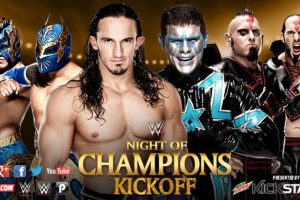 Kick-Off: Neville y The Lucha Dragons (Kalisto y Sin Cara) vs. The Cosmic Wasteland (Stardust y The Ascension [Konnor y Víctor]). Foto: WWE