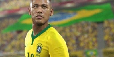 El brasileño es la estrella del videojuego. Foto:Konami