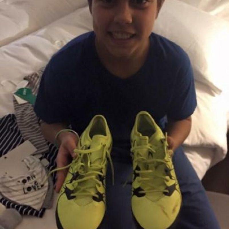 Él es Jere, hijo del futbolista uruguayo Álvaro Recoba. Foto:Vía twitter.com/Chino_Recoba20