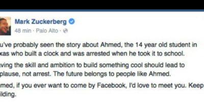 Mark Zuckerberg lo invitó a Facebook. Foto:vía Facebook
