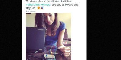 """""""Nos vemos en la NASA algún día"""" Foto:vía Twitter"""