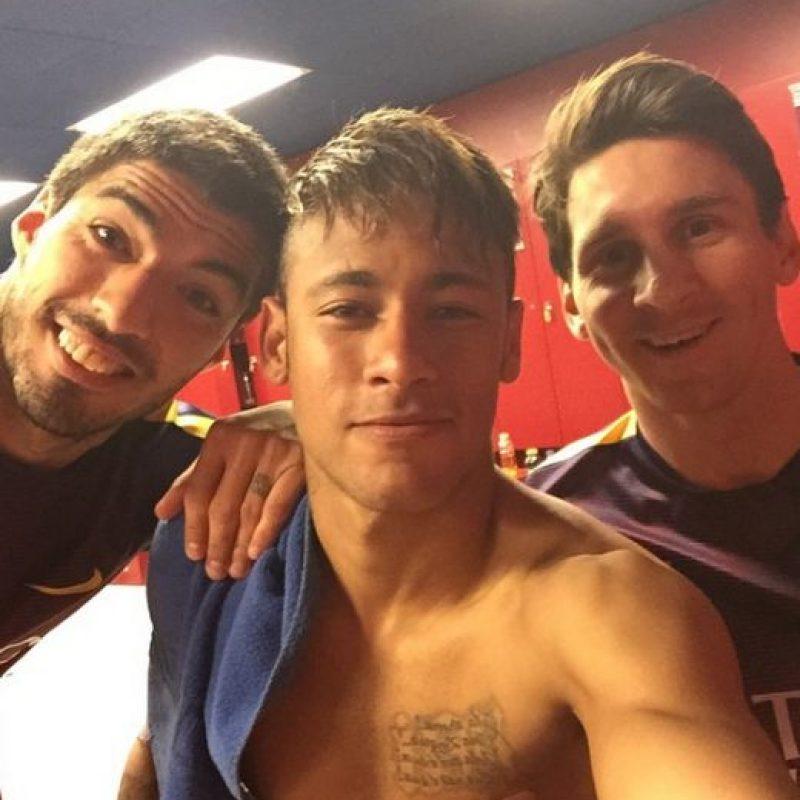 """Sin embargo, Neymar asegura que en el vestidor del equipo culé no se habla de """"tridente"""", ni de """"MSN"""" pues existe un nombre exclusivo para esta asociación, el cual no se puede revelar por que es """"secreto"""". Foto:Vía instagram.com/neymarjr"""