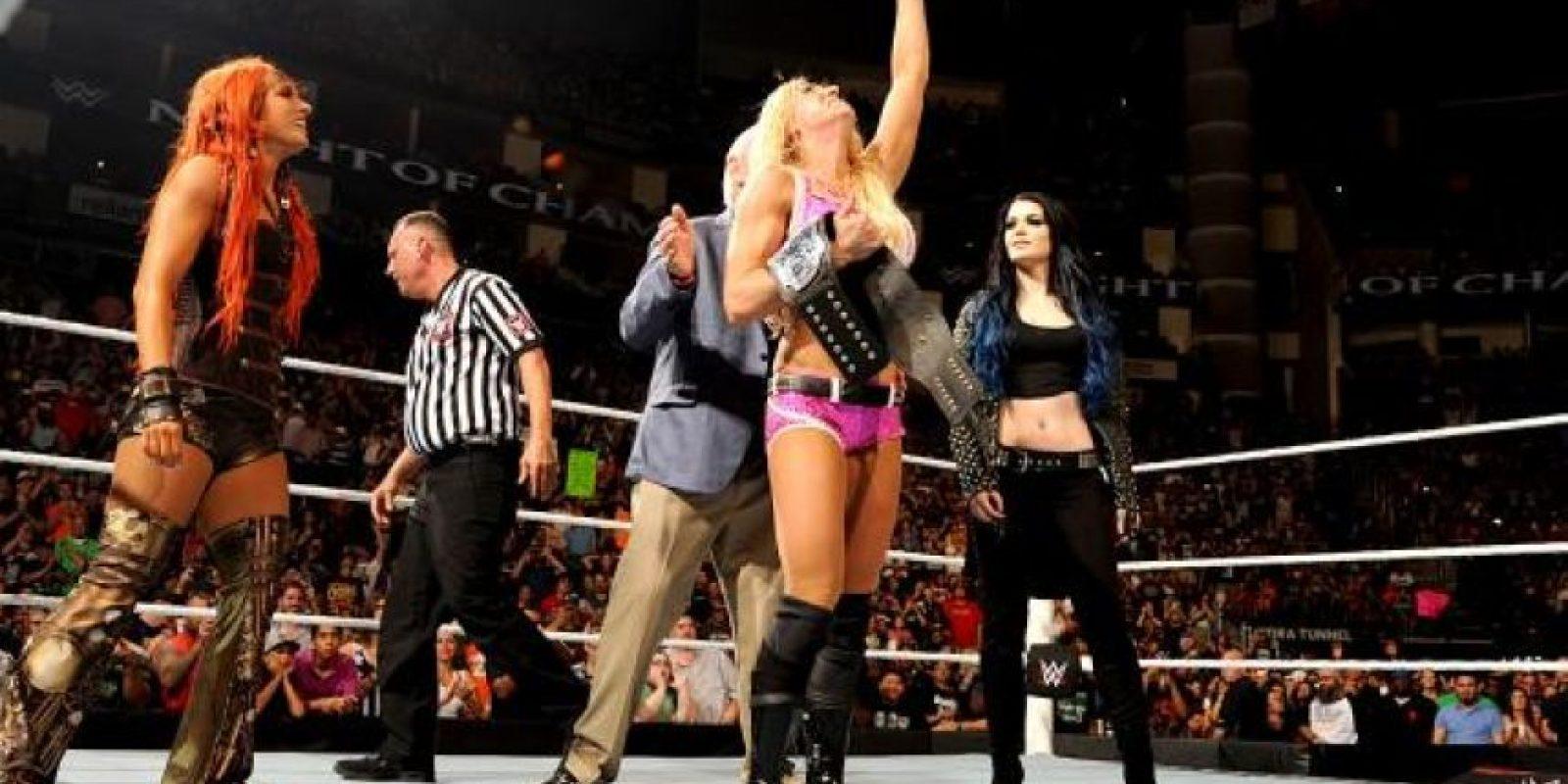 La hija de Ric Flair se impuso en 12 minutos y 47 segundos Foto:WWE