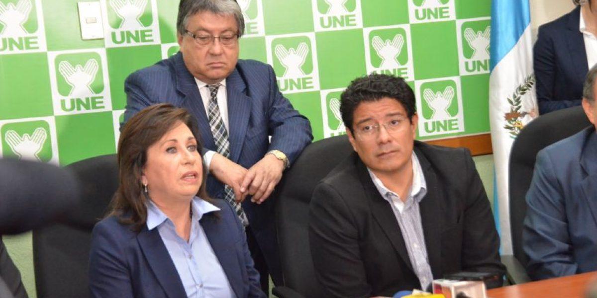Sandra Torres, de la UNE, le pide al Congreso que apruebe las reformas electorales