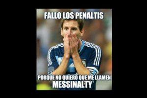 """Lionel Messi falló un penal en partido del Barcelona frente a Levante y le """"llovieron"""" los memes. Foto:memedeportes.com"""