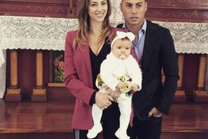 3. Eduardo Vargas y Daniela Colett Foto:Vía instagram.com/danibcolett