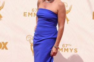 El vestido de Deborah Norville debe estar gritando en estos momentos tanto como ustedes al vérselo puesto. Foto:vía Getty Images