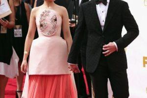 Joanna Newsom, la esposa de Andy Samberg, parecía pastel de bodas. Foto:vía Getty Images