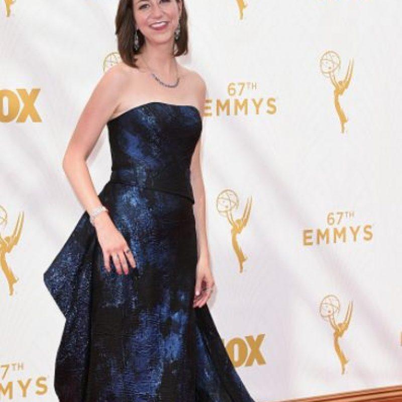 Kristen Schaal, con un color más que apropiado. Perfecta. Foto:vía Getty Images