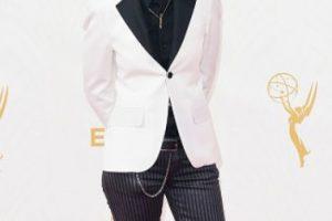 Abigail Savage, como Harry Styles en la alfombra roja. Foto:vía Getty Images