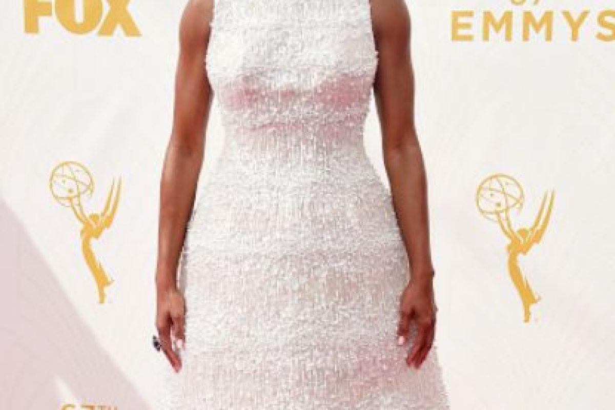 Regina King trató de hacer lo de Lupita Nyong'o pero salió mal. Foto:vía Getty Image