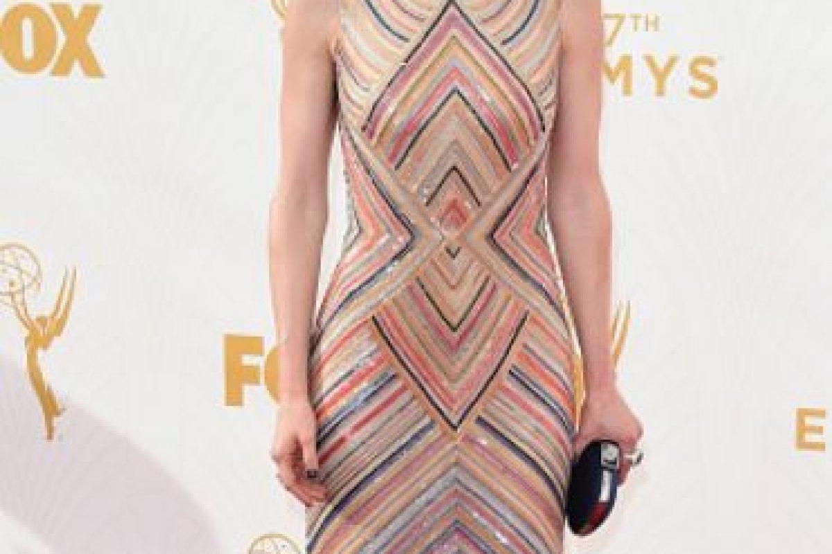 Ellie Kemper, con diseños cinéticos. Foto:vía Getty Images