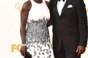 Viola Davis, correcta con su estampado blanco y negro. Foto:vía Getty Images