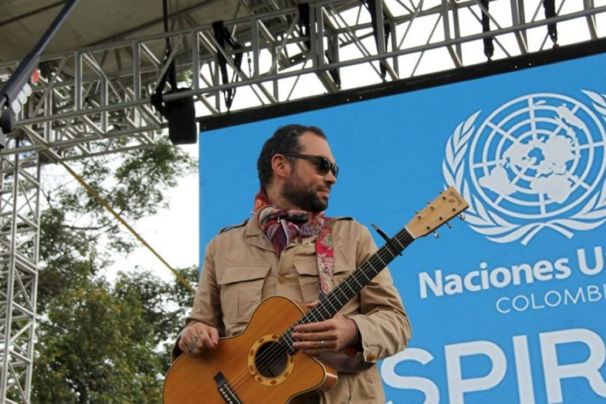 Los colombianos disfrutaron de un concierto organizado por la ONU. Foto:Vía Twitter @PnudColombia