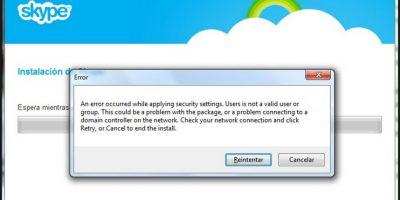El programa se restableció por completo después de siete horas Foto:Skype/Microsoft