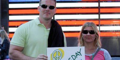 Algunos turistas se unieron a la celebración. Foto:Vía facebook.com/peaceday