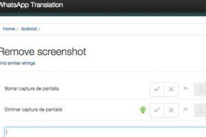 Próximamente será posible realizar y compartir capturas de pantalla. Foto:vía http://translate.whatsapp.com