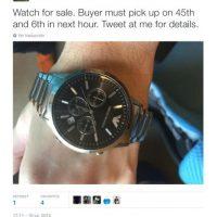 """Se vende reloj"" Foto:Twitter.com"