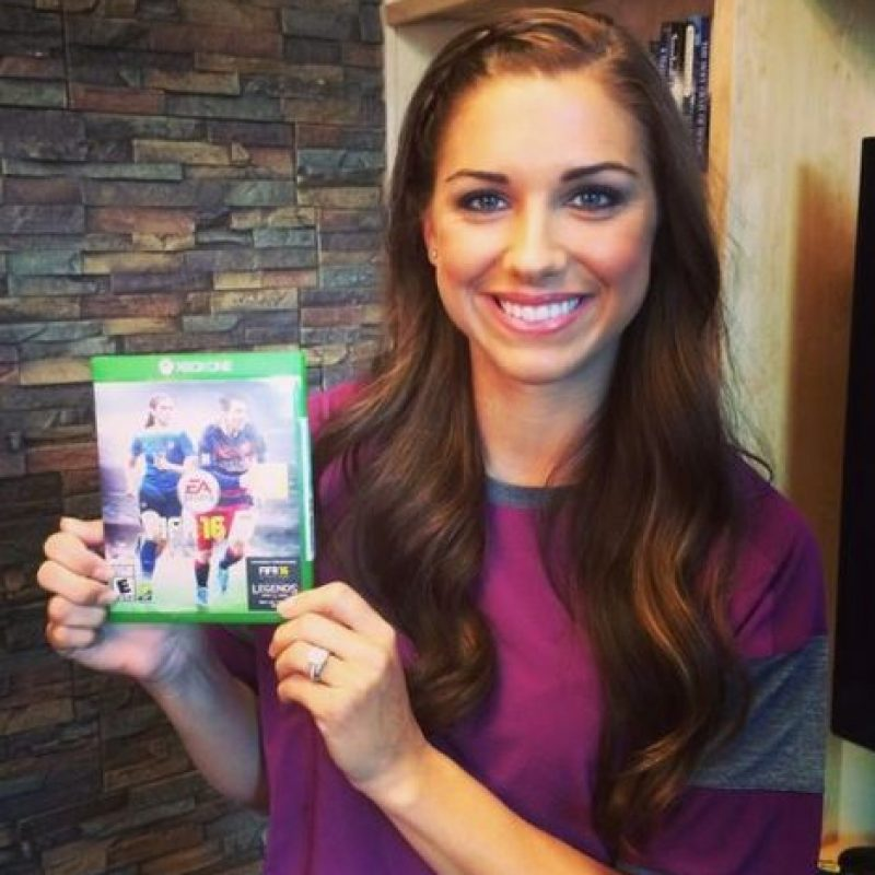 Alex Morgan es una de las estrellas femeninas en el videojuego. Foto:twitter.com/alexmorgan13