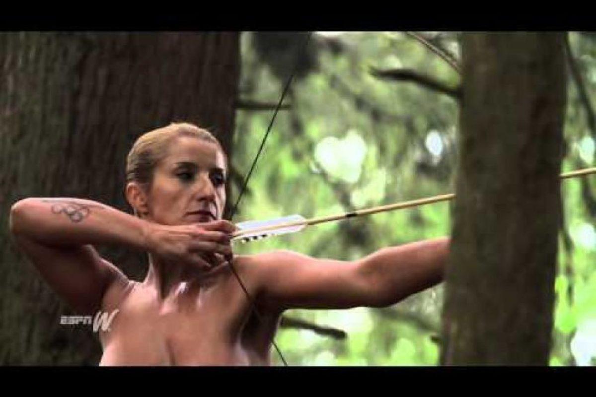 Khatuna Lorig. Estadounidense especializada en tiro con arco Foto:ESPN