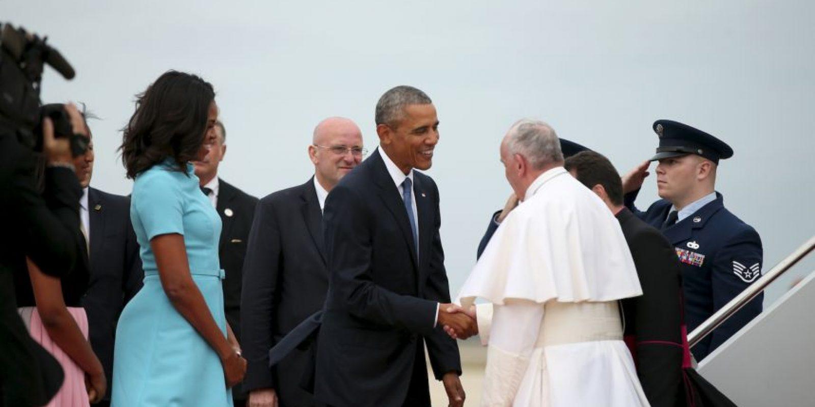 El presidente estadounidense lo recibió con aplausos y un apretón de manos. Foto:AP