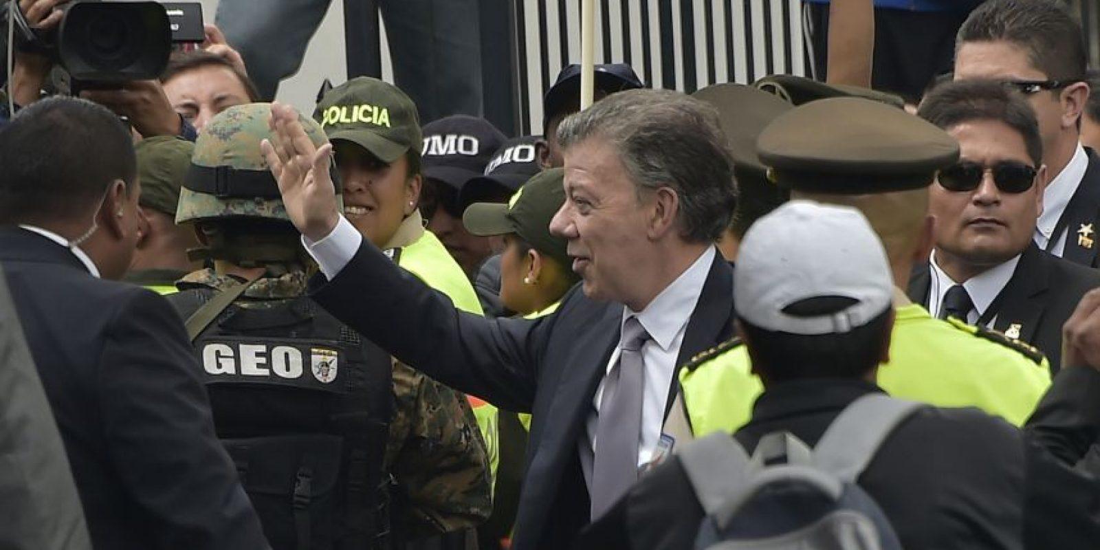 Previo al encuentro Santos había destacado que un punto importante era el mal trato que alegadamente se le daba a los colombianos. Foto:AFP