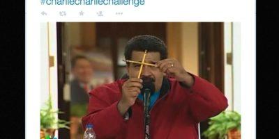 Consistía en poner dos lápices en forma de cruz, y en cada cuadrangular tener una opción de respuesta Foto:Twitter