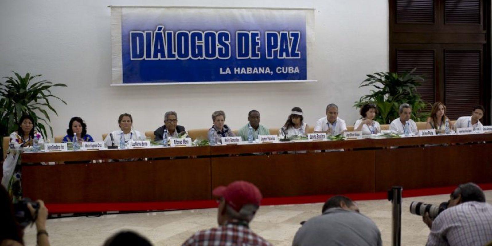 """Antes de la reunión el presidente colombiano Juan Manuel Santos había declarado """"La paz está cerca"""". Foto:AP"""