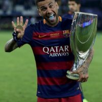 """Con los """"culés"""" tiene 5 ligas de España, tres Copas del Rey, 5 Supercopa de España, 3 Champions League, 3 Supercopa de Europa y 2 Mundial de Clubes. Foto:Getty Images"""