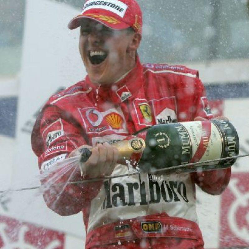 En la temporada 1996 fichó por la Escudería Ferrari donde vivió su mejor época. Foto:Getty Images