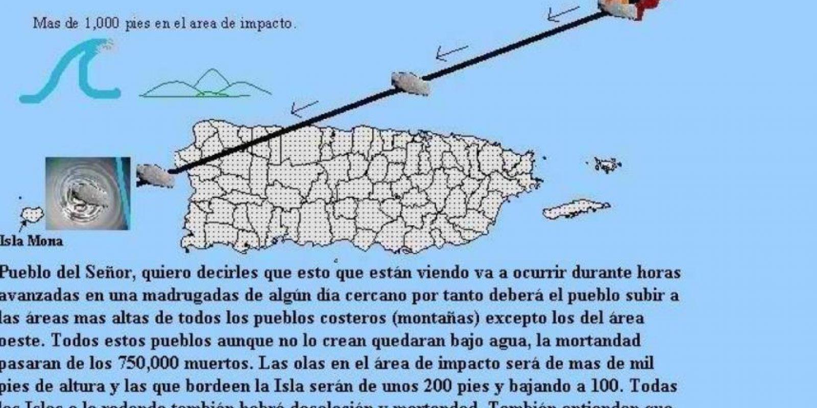 """Muchos dijeron que el asteroide caería en Puerto Rico (apostamos a que Nueva Orleans, Bangkok, Atlantic City y Las Vegas ganarían en """"pecado""""). Foto:vía Efraín Rodríguez"""