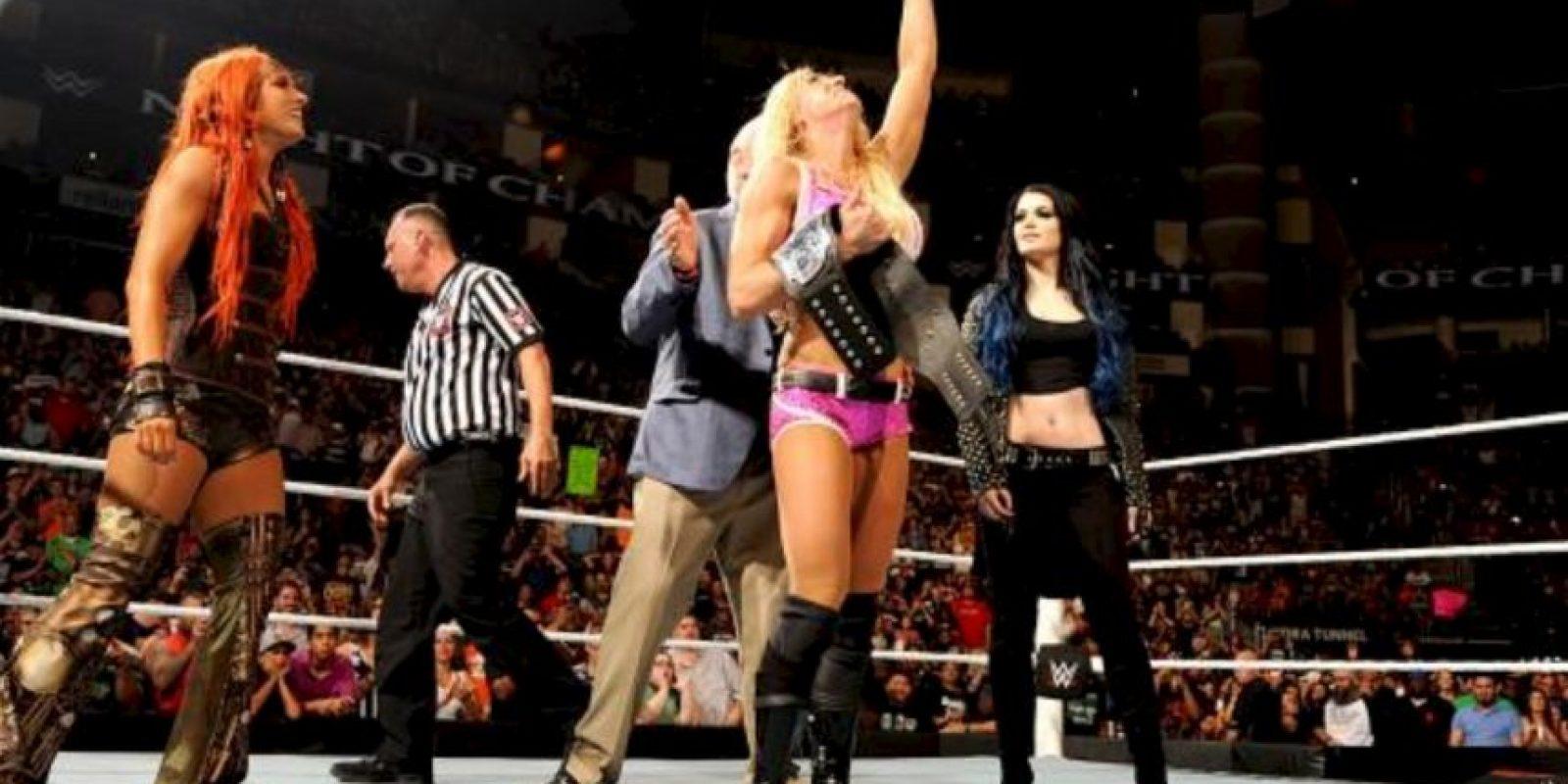 La hija de Ric Flair se impuso en 12 minutos y 47 segundos. Foto:WWE.com
