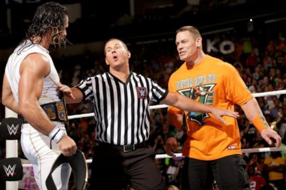 Seth Rolins enfrentó a John Cena por el Campeonato de Estados Unidos. Foto:WWE.com