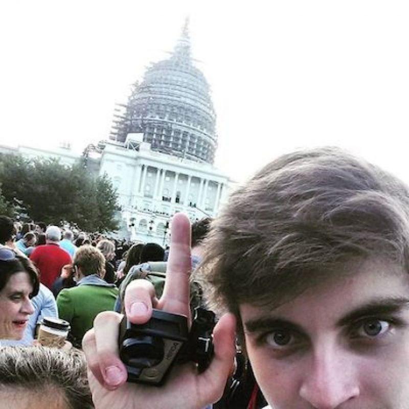 Quienes asistieron al Capitolio no perdieron la oportunidad de capturar el momento Foto:Instagram.com/explore/tags/popefrancis/
