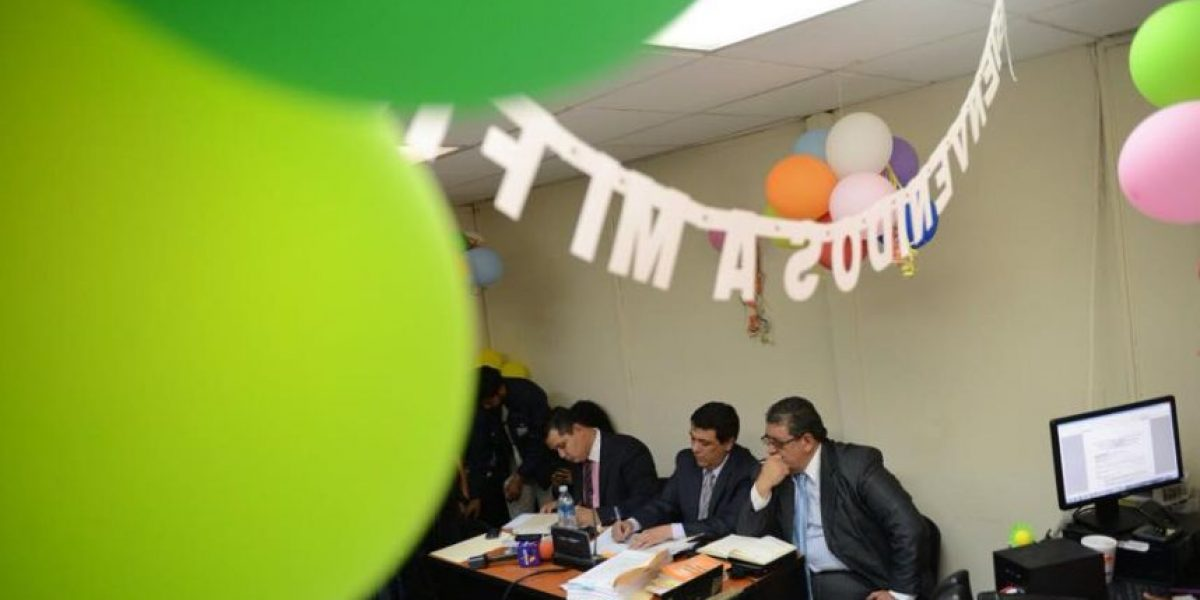 ¿Por qué está así decorada la sala en la audiencia contra el magistrado Santiago de León?