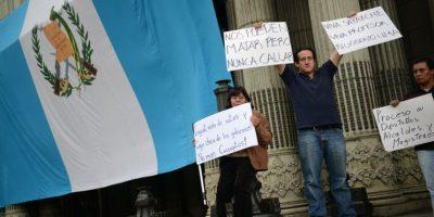 Plantón en el Parque Central pide justicia y fin a la corrupción