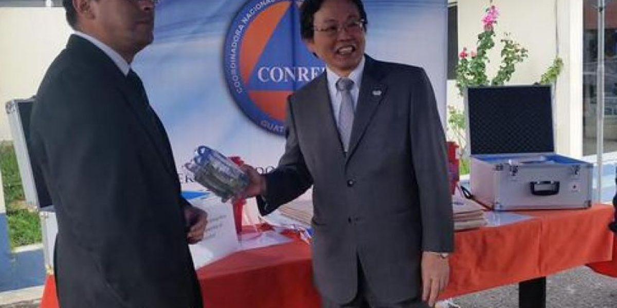 Gobierno de Japón dona equipo a Conred