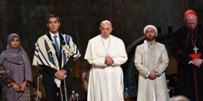 El papa le deseo a todos Paz Foto:AFP