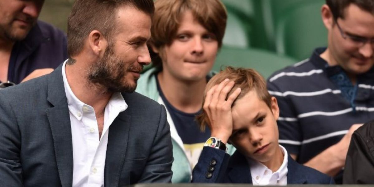 Beckham juega con los niños y le pide a la ONU su protección