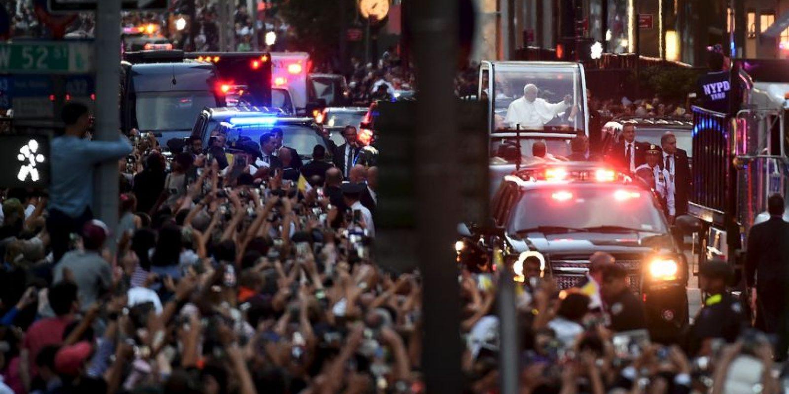 Las calles lucieron abarrotadas Foto:AFP